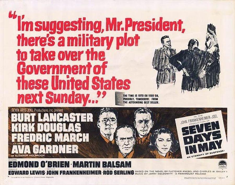 Risultati immagini per seven days in may 1964
